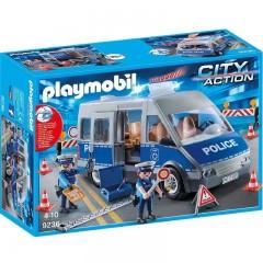 Playmobil City Action 9236 Radiowóz policyjny z blokadą drogową