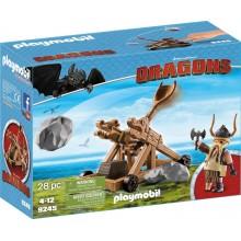 Playmobil 9245 Dragons Jak wytresować smoka - Pyskacz Gbur i katapulta