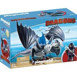 Playmobil 9248 Dragons Jak wytresować smoka - Drago i uzbrojony smok