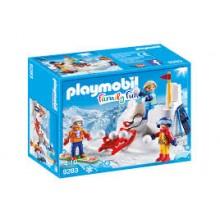 Playmobil Family Fun 9283 Bitwa na śnieżki