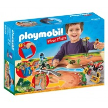Playmobil 9329 Play Map - Motocross