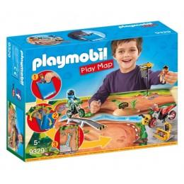 Playmobil 9329 Play Map - Motocross