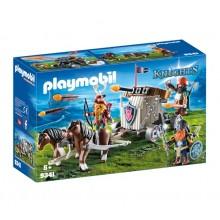 Playmobil 9341 Knights - Zaprzęg kucyków z balistą krasnoludów