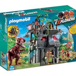 Klocki Playmobil 9429 The Explorers - Obozowisko z T-Rexem
