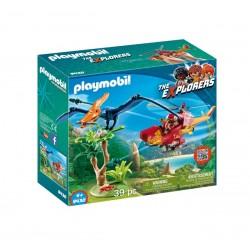 Klocki Playmobil 9430 The Explorers - Helikopter z pterodaktylem