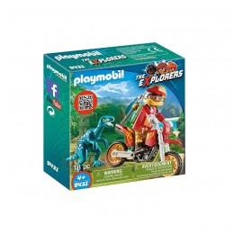 Klocki Playmobil 9431 The Explorers - Rower motocrossowy z Raptorem