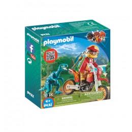 Klocki Playmobil 9431 Odkrywcy - Rower motocrossowy z Raptorem