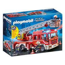 Playmobil 9463 City Action - Wóz strażacki z drabiną z dźwiękiem i światełkami
