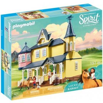 Playmobil 9475 Spirit: Riding Free Mustang - Szczęśliwy dom Lucky