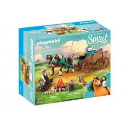 Playmobil 9477 Spirit: Riding Free Mustang - Ojciec Lucky z bryczką