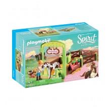 Playmobil 9480 Spirit: Riding Free Mustang - Boks stajenny Abigail i Bumerang