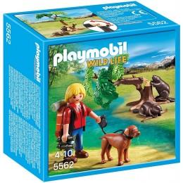 Playmobil Wild Life 5562 - Drzewo z bobrami i przyrodnikiem