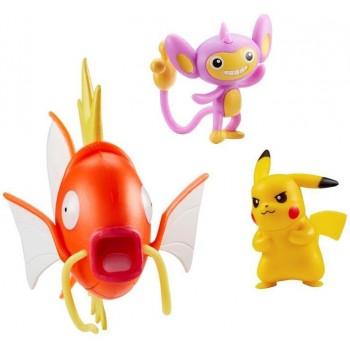 Pokemony - Figurki kolekcjonerskie - Pikachu, Aipom i Magikarp 95146