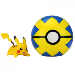 Pokemony - Figurka Pikachu i Quick Ball - Clip 'n' Go 95061