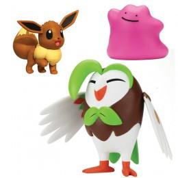 Pokemony - Figurki kolekcjonerskie - Dartrix, Eevee i Ditto 95148