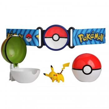 Pokemony - Pikachu, Poke Balle i pas - Zestaw Clip 'n' Go 95281