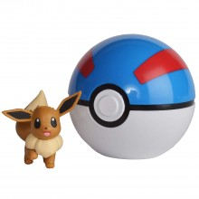 Pokemony - Figurka Eevee i Great Ball - Clip 'n' Go 96231