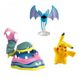 Pokemony - Figurki Alolana Muka, Pikachu i Zubata – Battle Figure Set – 96286