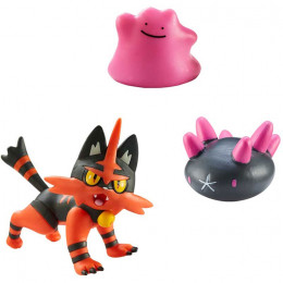 Pokemony - Figurki Torracata, Ditto i Pyukumuku – Battle Figure Set – 96288