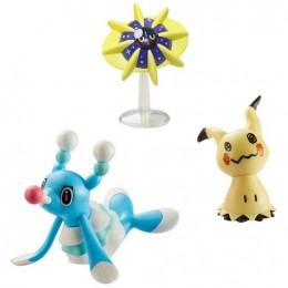 Pokemony - Figurki Brionne, Mimikyu i Cosmoem – Battle Figure Set – 96289