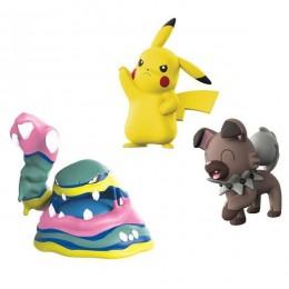 Pokemony - Figurki kolekcjonerskie - Pikachu, Muk Alolański, Rockruff - 97522