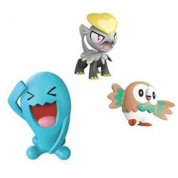 Pokemony - Figurki kolekcjonerskie - Wobbuffet, Jangmo-o i Rowlet - 97523
