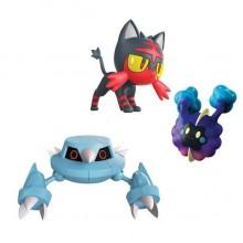 Pokemony - Figurki kolekcjonerskie - Litten, Metang, Cosmog - 97524