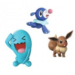 Pokemony - Figurki kolekcjonerskie - Wobbuffet, Popplio, Eevee - 97525