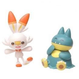 Pokemony – Figurki Munchlax i Scorbunny – Battle figure pack – 97626