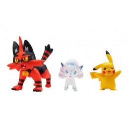 Pokemony – Figurki kolekcjonerskie - Pikachu, Vulpix i Torracat – 97686