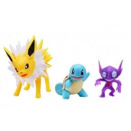 Pokemony – Figurki kolekcjonerskie – Squirtle, Jolteon i Sableye – 97688