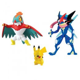 Pokemony - Figurki 3pak - Pikachu, Greninja, Hawlucha T19165
