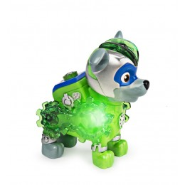 Psi Patrol - Mighty Pups Kosmopieski – Charged Up - Świecąca figurka Rocky - 2536