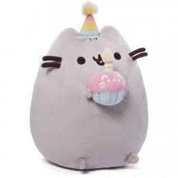 Pusheen - Maskotka Kot urodzinowy z tortem 24cm - 6052848