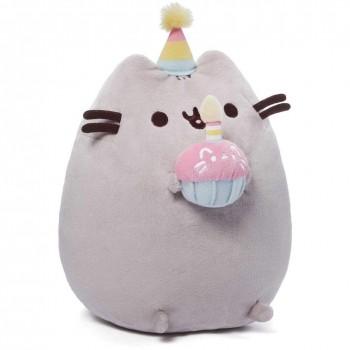Pusheen - Maskotka Kot urodzinowy z tortem 24cm - 4051536
