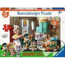 Ravenburger - Puzzle podłogowe 24 elementy - 44 Koty - 030040