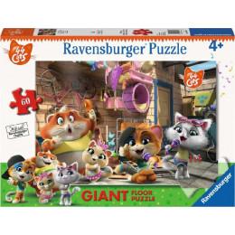 Ravenburger - Puzzle podłogowe 60 elementów - 44 Koty - 030057