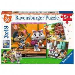 Ravensburger - Puzzle 3x49 el - 44 koty - 050130