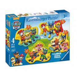 Ravensburger - Puzzle 4w1 Psi Patrol - Wszyscy bohaterowie - 069118