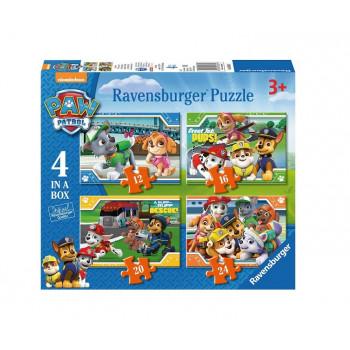 Ravensburger - Puzzle 4w1 Psi Patrol -069361