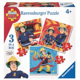 Ravensburger - Puzzle 3w1 - Strażak Sam - 070657