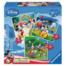 Ravensburger - Puzzle 3w1 - Park Myszki Miki - 070886