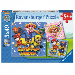 Ravensburger - Puzzle 3x49el - Psi Patrol - 080366