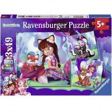 Ravensburger - Puzzle 3x49 elementów - Enchantimals - 080618
