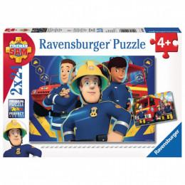 Ravensburger - Puzzle - Strażak Sam niesie pomoc - 2x24 elementy - 09042