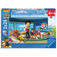 Ravensburger - Puzzle 2x24 elementy - Psi Patrol - Rubble i Przyjaciele - 090853