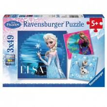 Ravensburger - Puzzle 3x49el - Frozen - 092697