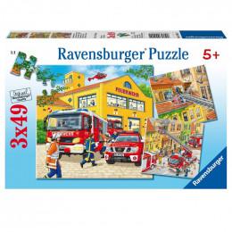 Ravensburger - Puzzle 3x49el - Straż Pożarna - 094011