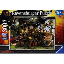 Ravensburger - Puzzle -  Dragons: Blisko przyjaciół - 300 XXL - 13198