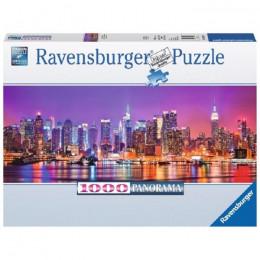Ravensburger - Puzzle Panorama Światła Manhattanu 1000 elementów - 150786